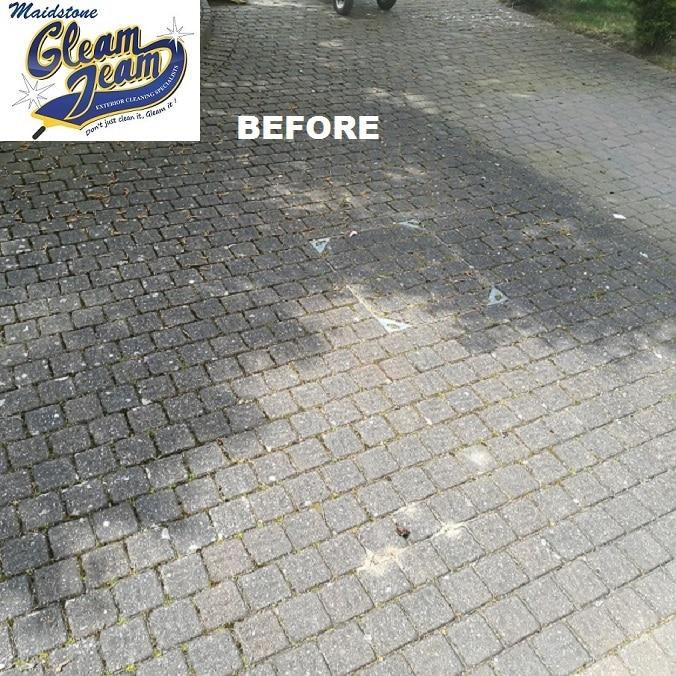 driveway-before-pressure-washing-maidstone