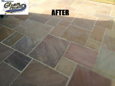 Indian-sandstone-paving-slabs-cleaning-maidstone-lent