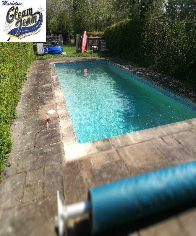 sandstone-restoration-beside-pool-repointing-sealing-in-kent