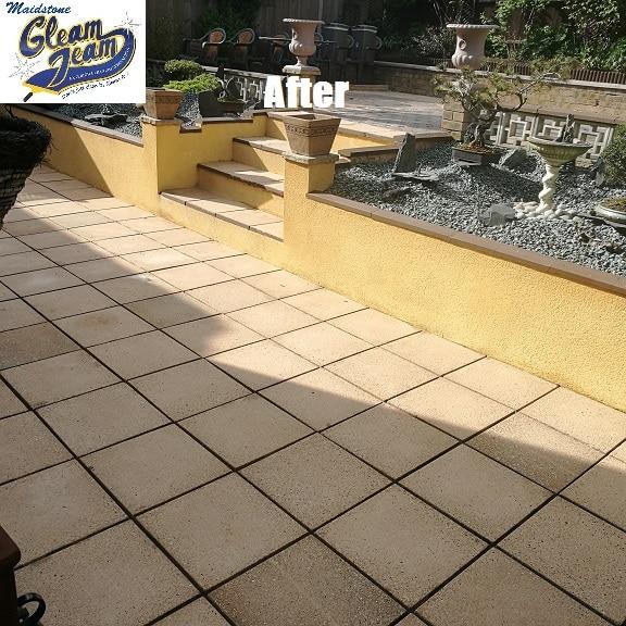 patio-restoration-black spot-removal-kent
