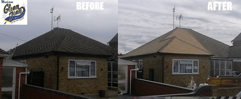 roof-before-and-after-roof-cleaning-in-Surrey