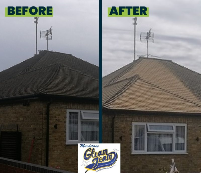 roof-tiles-before-and-after-cleaning-in-Kent