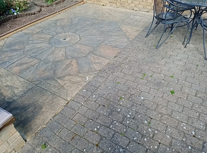 Indian-Sandstone-block-paving-patio-before-refurbishment
